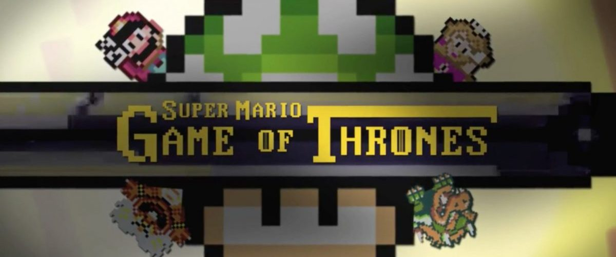 Bannière - Game of Thrones version Super Mario